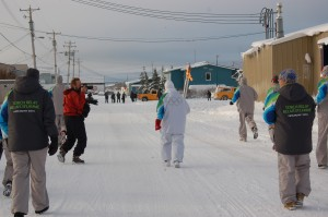 Olympic torch in churchill.