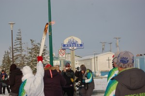 Olympic torch in Churchill,MB.
