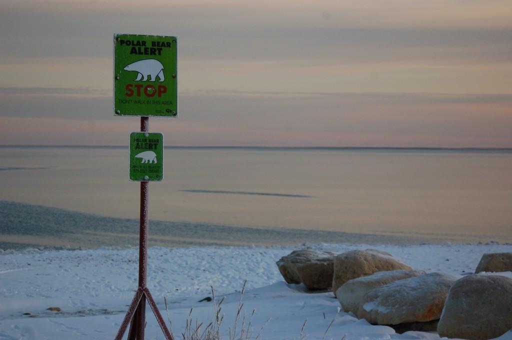 Bear danger area for humans in Churchill, Manitoba.