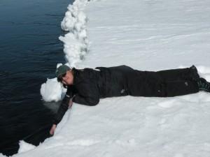 Ice floe edge in Hudson Bay, MB.