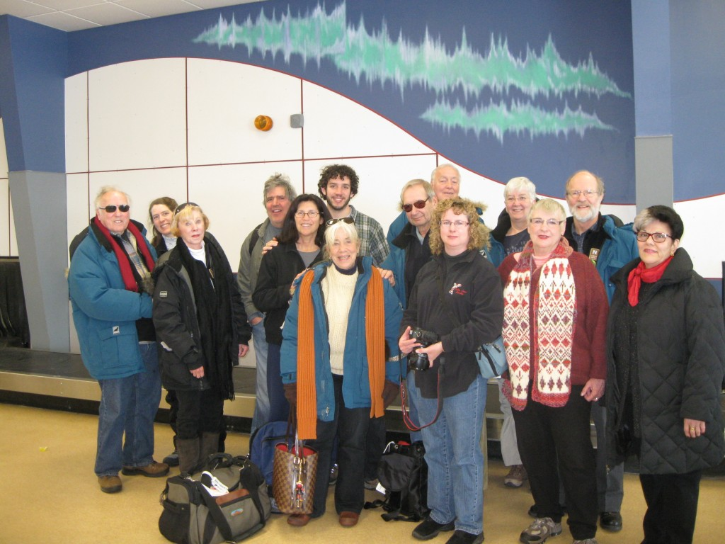 Final aurora group photo at the Churchill airport.