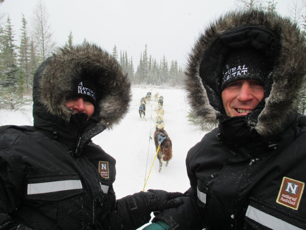 Dogsledding in Churchill with Kelly Turcotte. Emily Deemer photo.