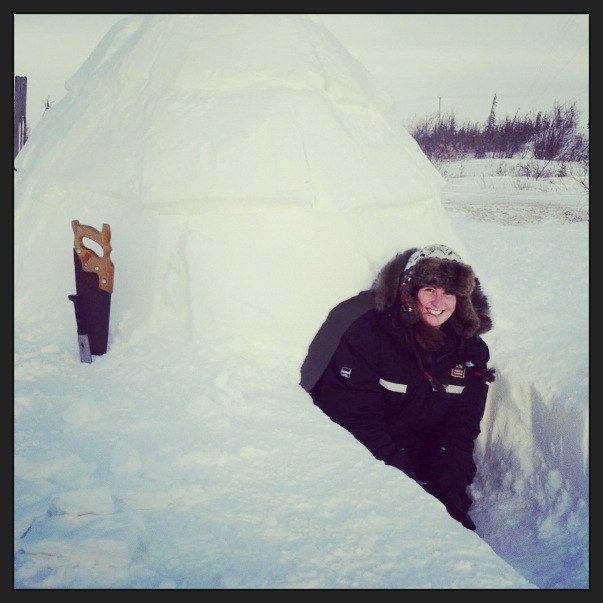 Igloo building in Churchill. Sam Stein photo.