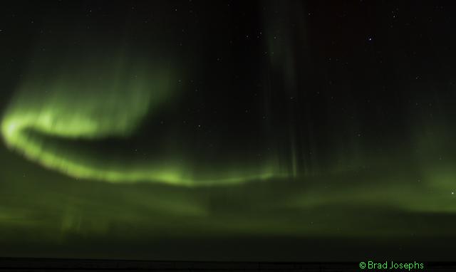 Aurora borealis in Churchill,MB. Photo Brad Josephs