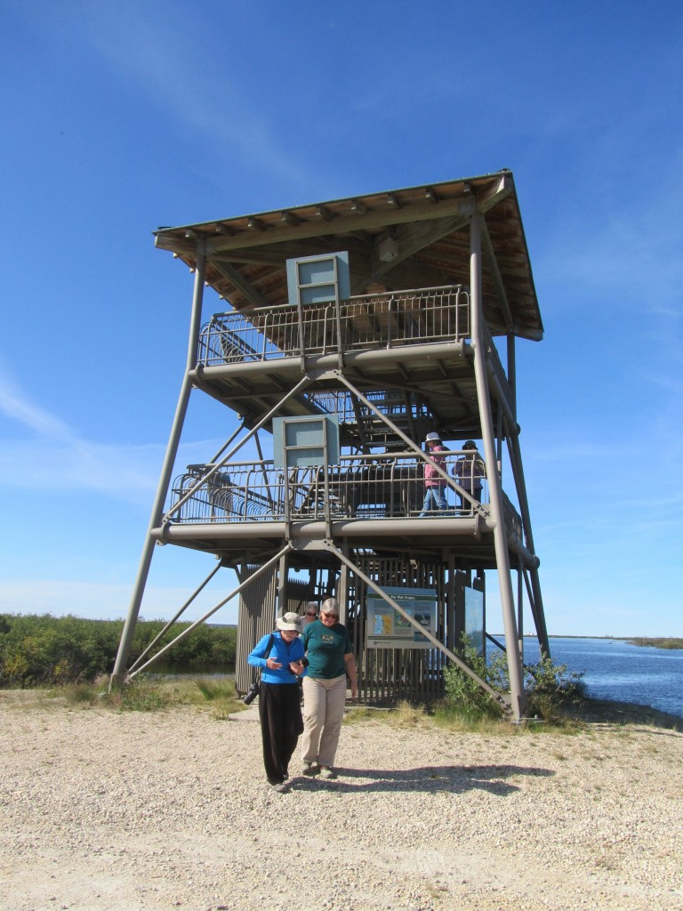 Goose creek observation tower at the marina in Churchill, Manitoba.