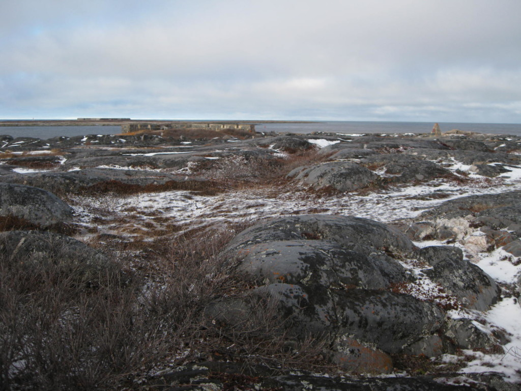 Cape Merry with a view to Fort Prince of Wales in Churchill, Manitoba
