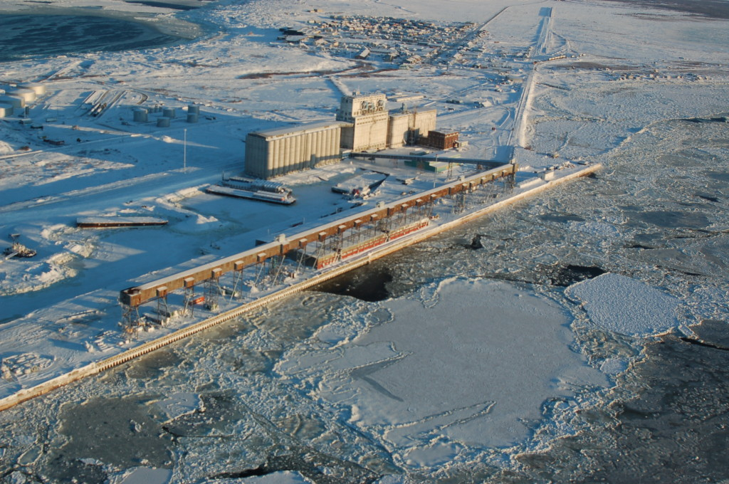 Port of Churchill in Churchill, Manitoba.