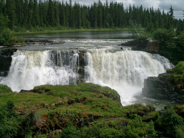 Pisew Falls near Thompson, Manitoba.