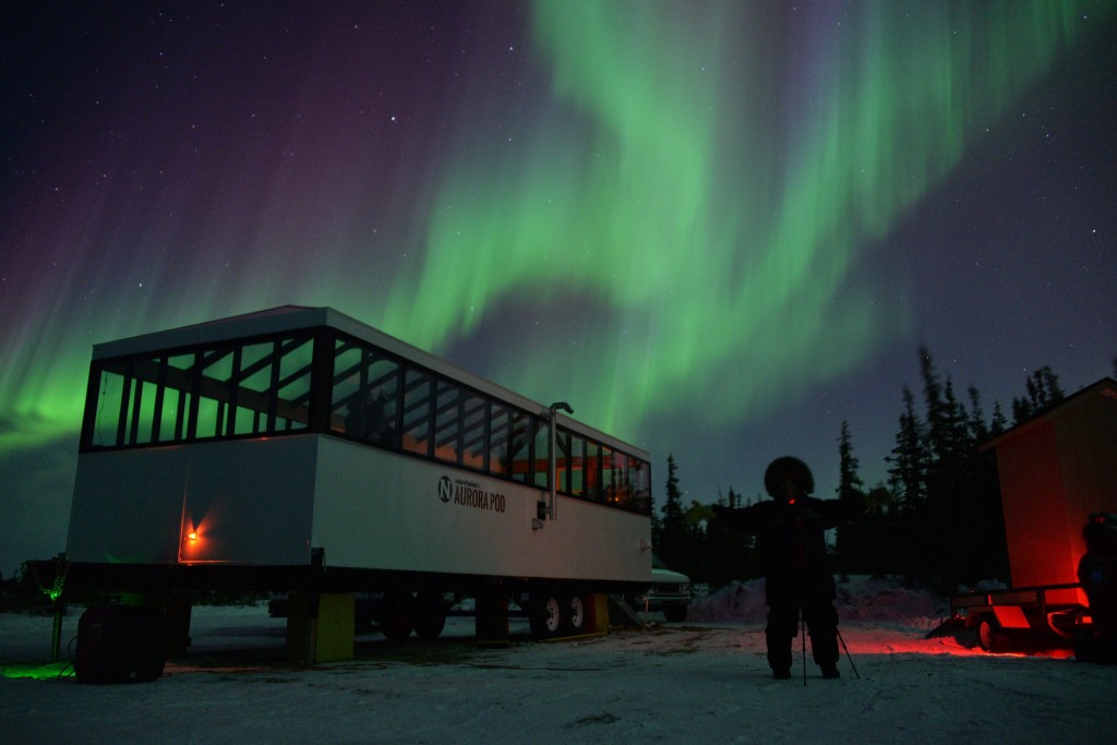 Northern lights in Churchill, Manitoba.