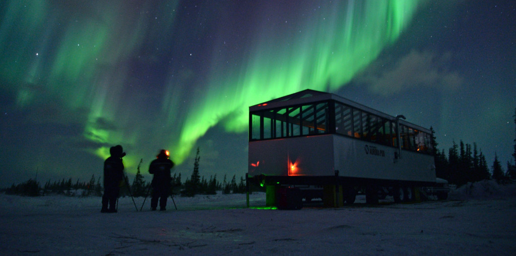 Aurora pod in Churchill, Manitoba