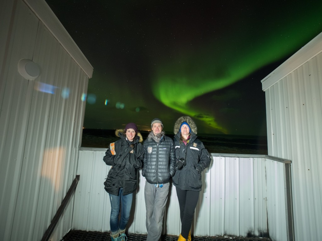 Northern lights at Tundra Lodge.