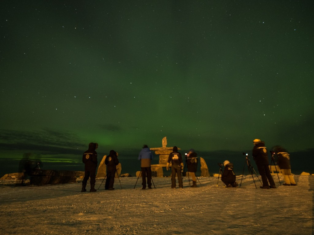 aurora borealis in Churchill, Manitoba