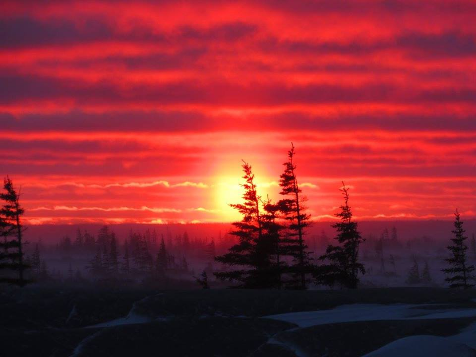 Sunset in Churchill, Manitoba