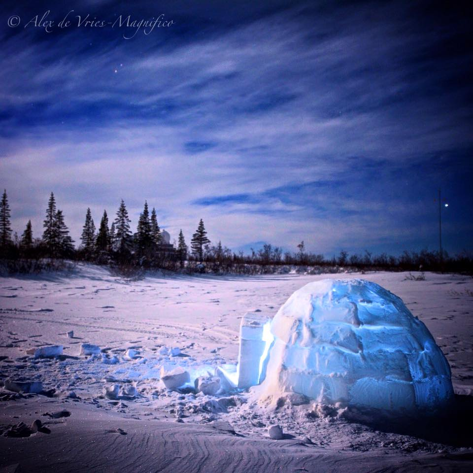 Igloo in Churchill, Manitoba
