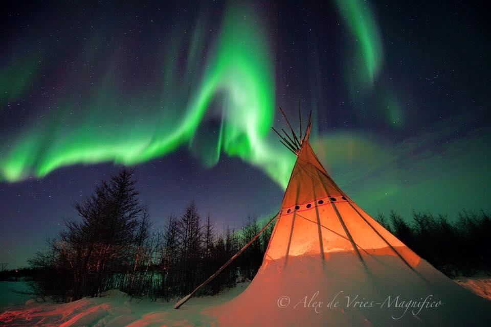 northen lights in Churchill , Manitoba