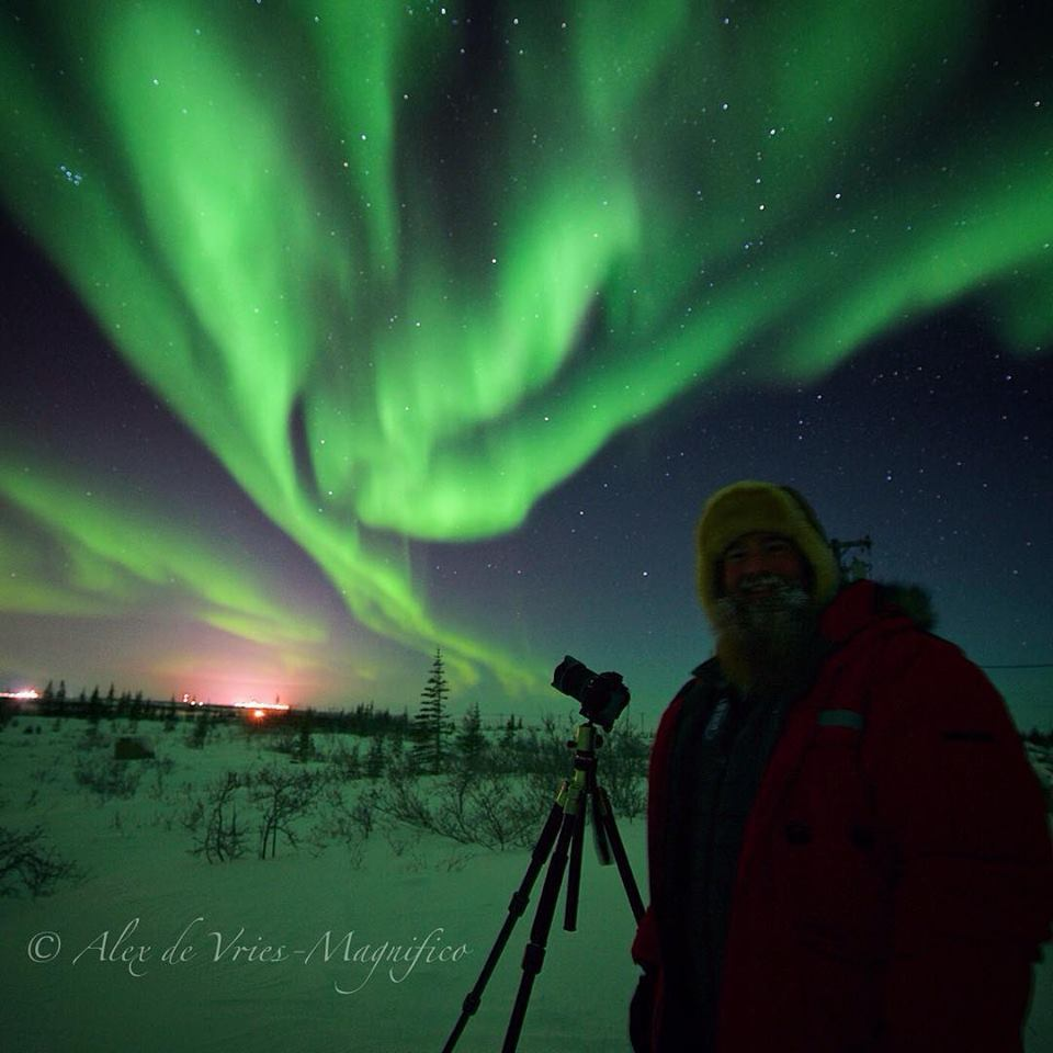 Drew Hamilton and northern lights churchill, manitoba
