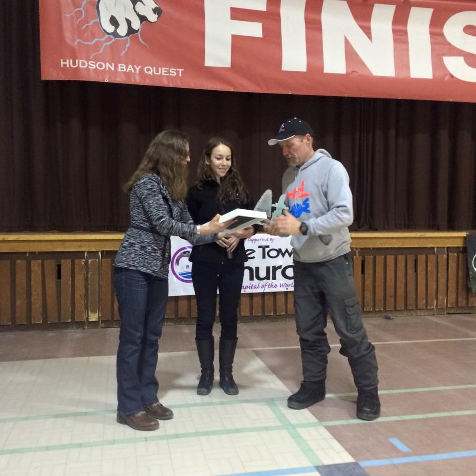 Jacob Heigers Vet award for 2016 Hudson Bay Quest