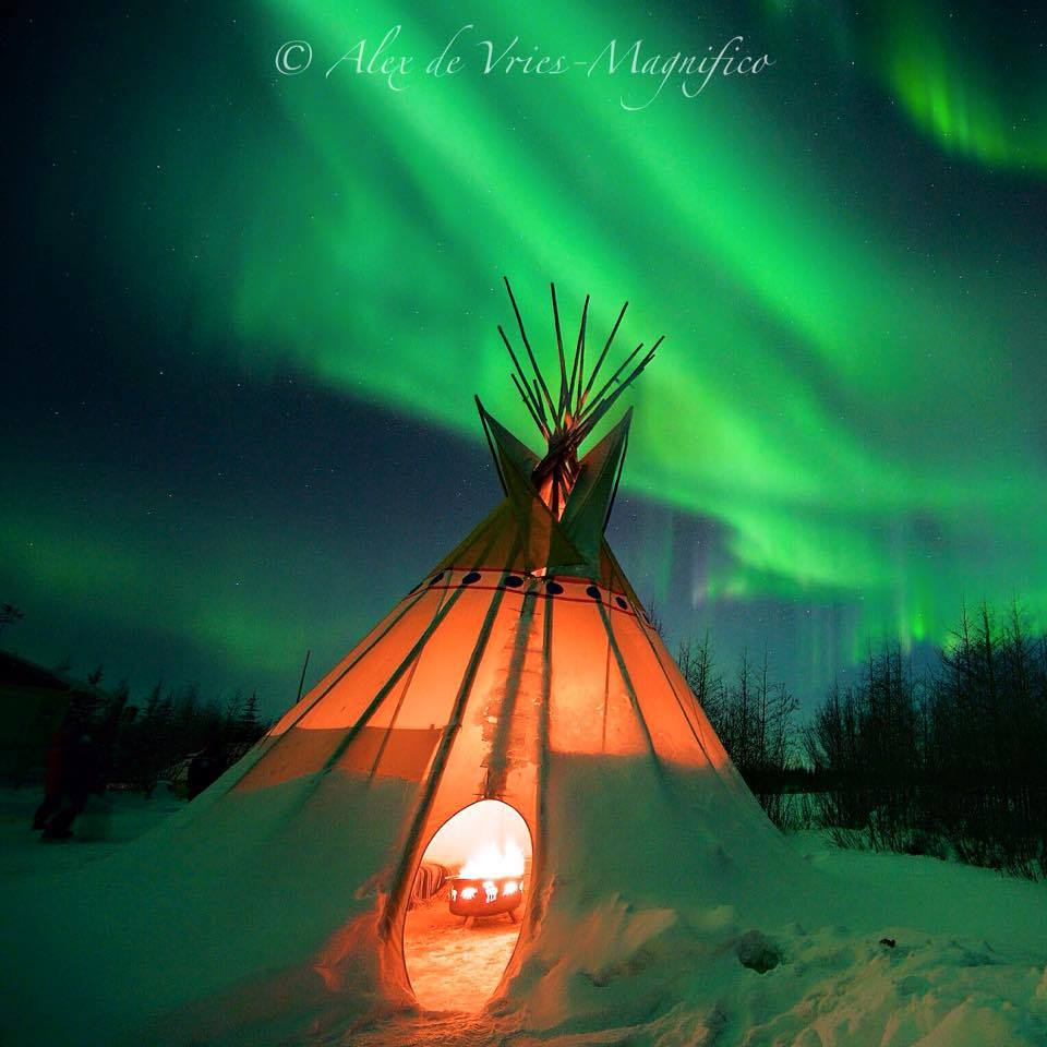 Northern lights Wapusk Adventures in Churchill, Manitoba