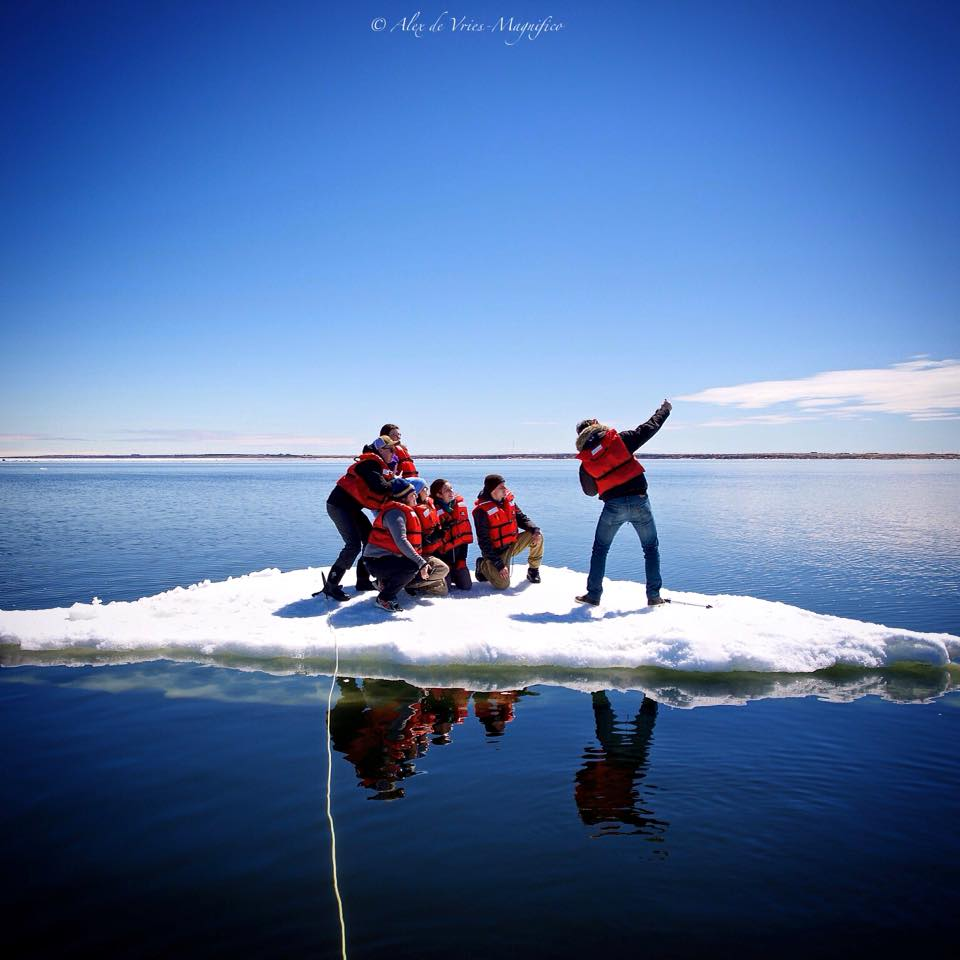 Ice floe in Churchill, Manitoba