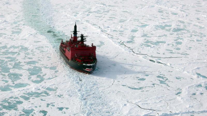 Russian icebreaker Yamal in Arctic