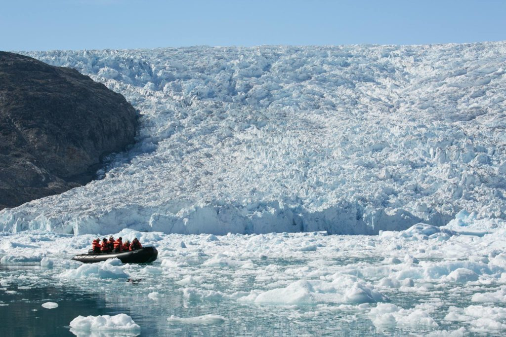 icy Greenland fjiord