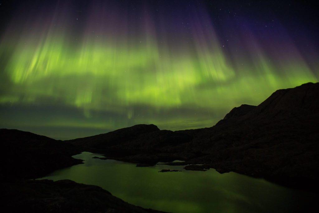 Tasiliaq, Greenland northern lights