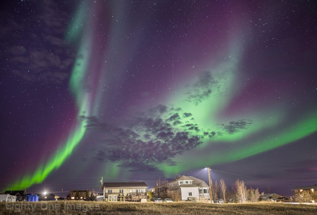 northern lights in Inuvik