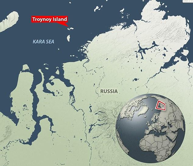 Troynoy Island in Kara sea Russia