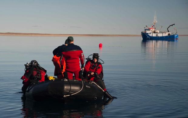 HMS Erebus dive site