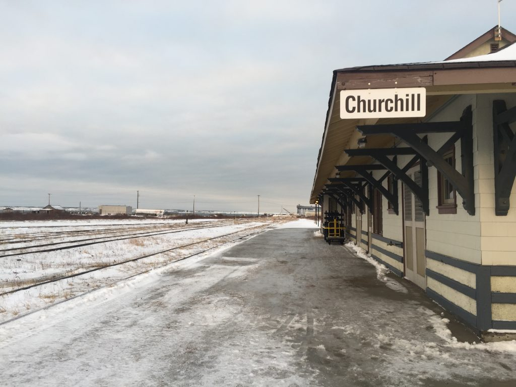 Churchill train station sits idle with no trai service.