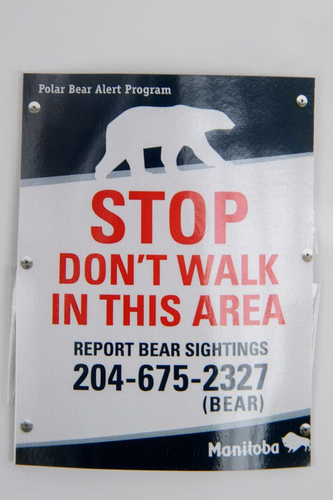 polar bear sign churchill, Manitoba