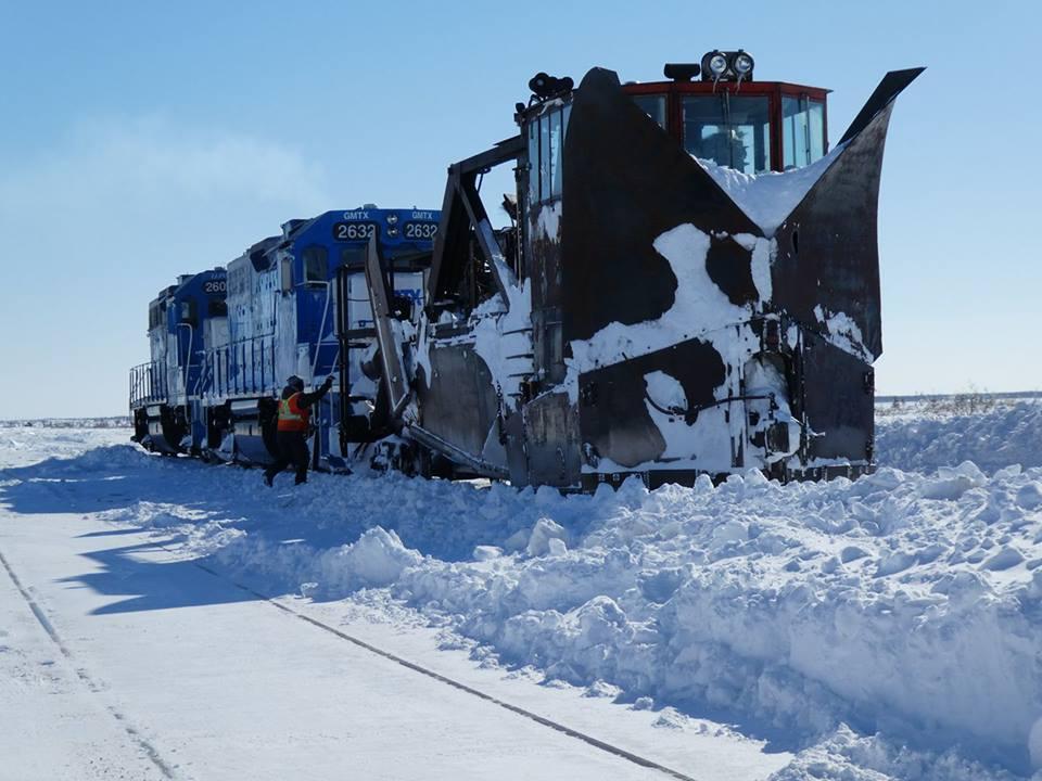 snowplow on train churchill