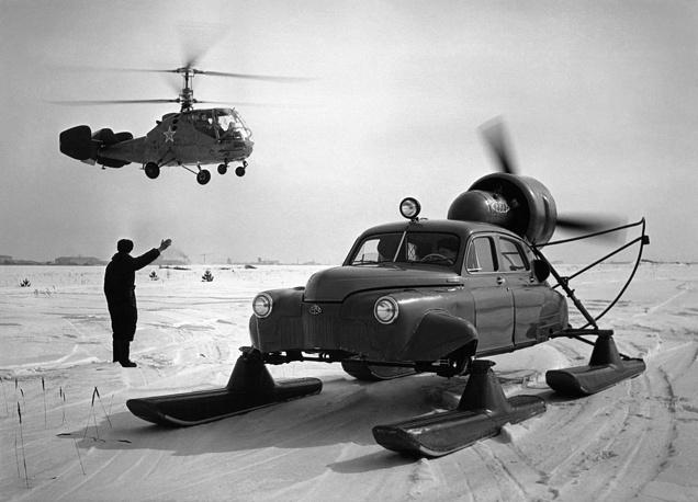 Snowmachine in Arctic