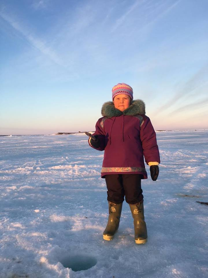 Rankin Inlet ice fishing