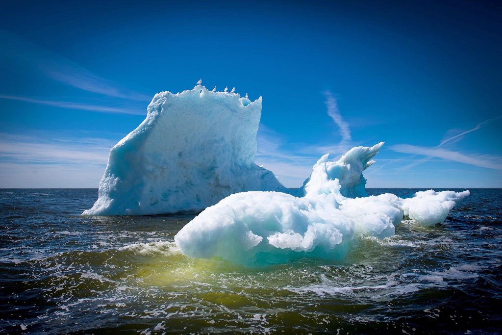 ice floes in the Hudson Bay Churchill