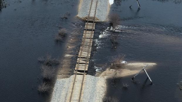 Hudson Bay Line washout
