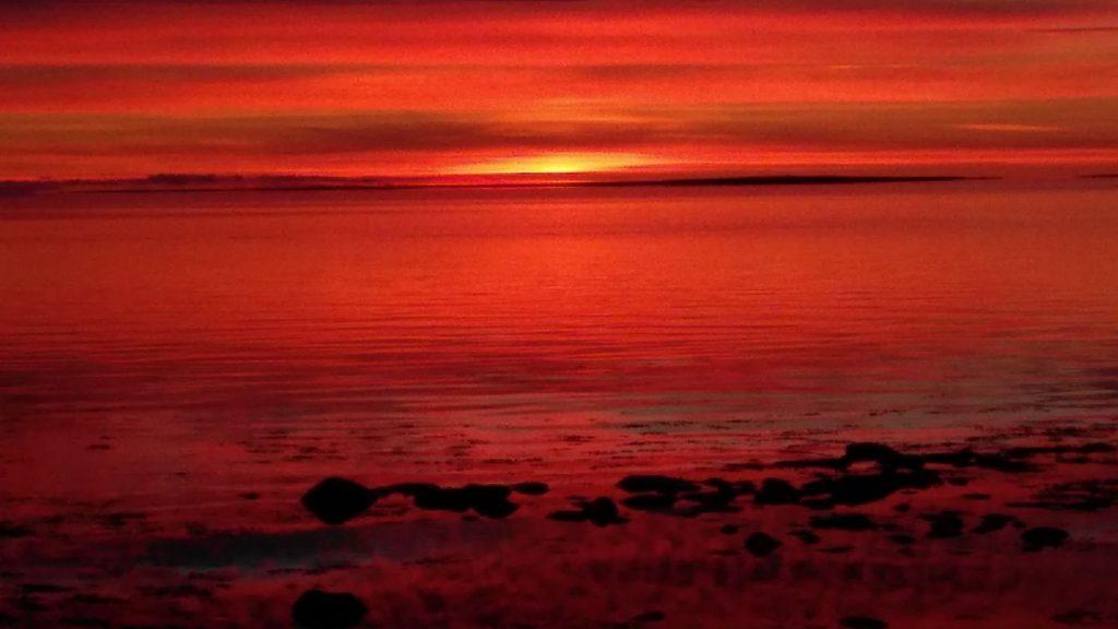 Arviat, Nunavut sunrise
