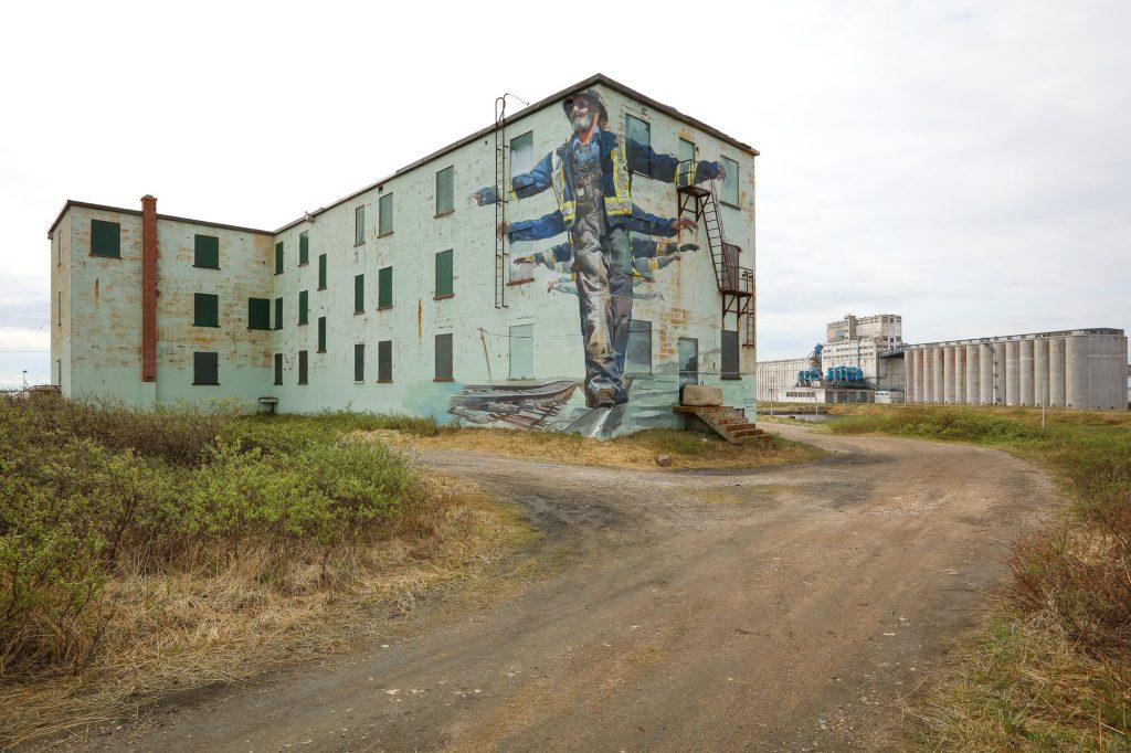 Churchill Sea Walls mural