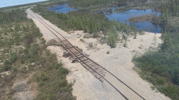 Hudson Bay tracks washed out.