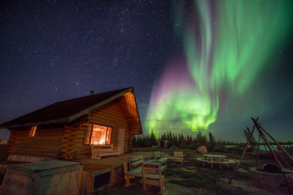 Northern lights cabin in Churchill, Manitoba