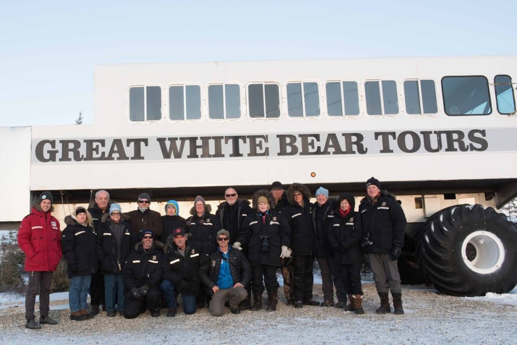 Polar rover and group Great White Bear in Churchill