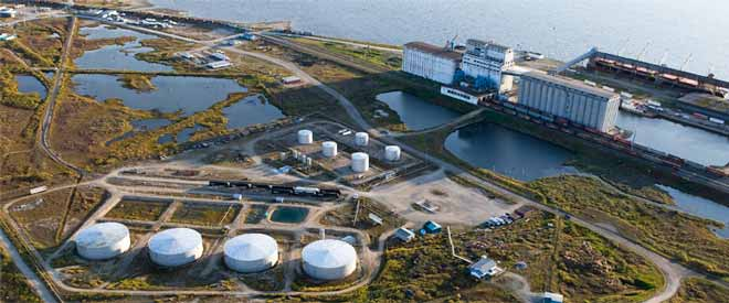 Churchill Port tank farm.