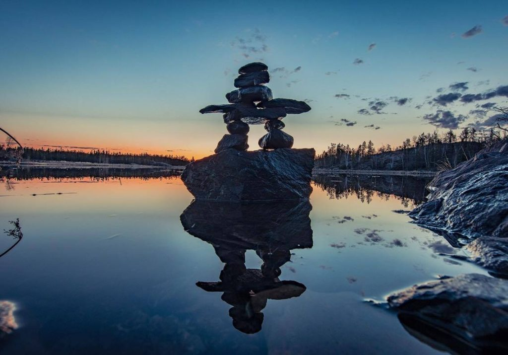 Inukshuk in NWT Ingraham Trail