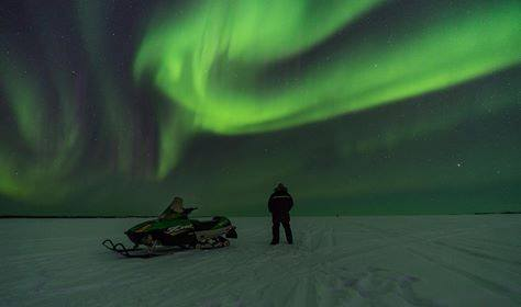 Northern lights in th Arctic