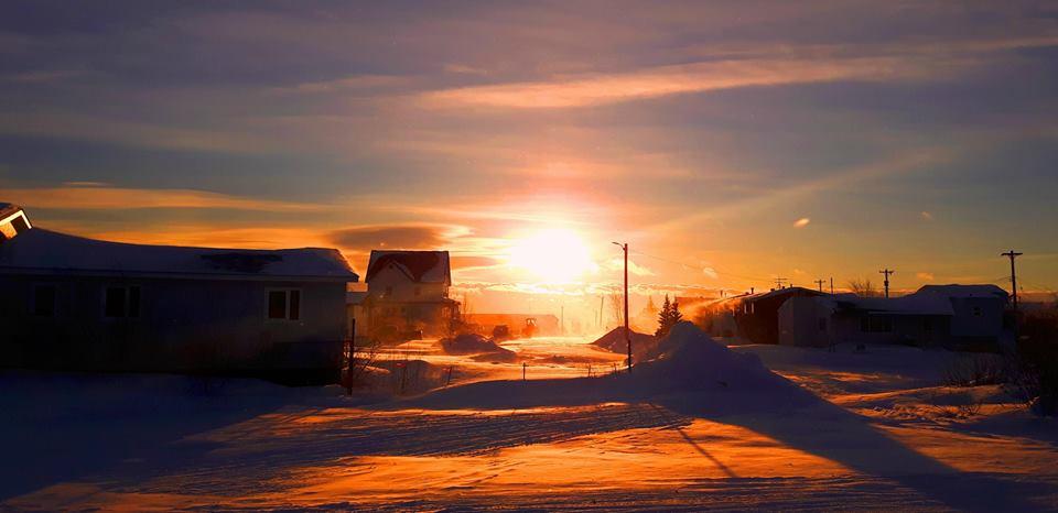 Sunrise in Norman Wells, NWT