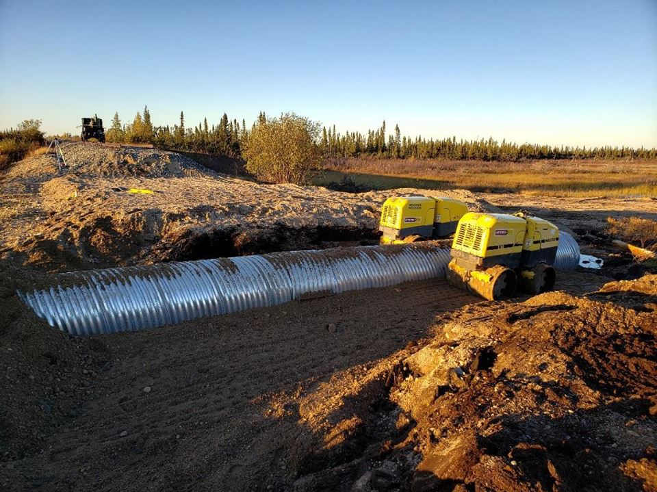 Culverts drainage for Hudson Bay line.