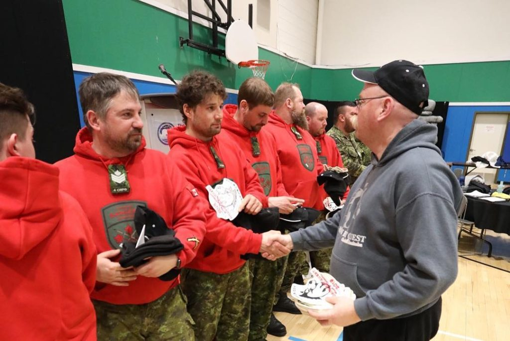 Canadian Rangers at Hudson Bay Quest banquet