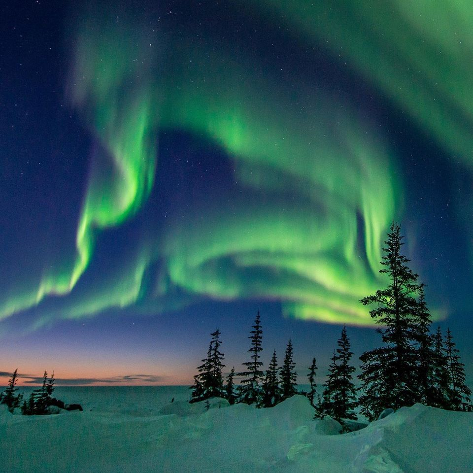 Northern lights in Churchill, Manitoba